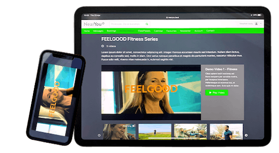 Promote and sell online video series using the NearYou platform